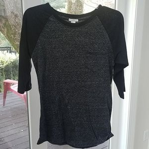 Forever 21 Black and Gray Top